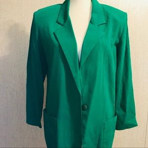 Lucky Green Claude Size 8 Suit Blazer With Pockets